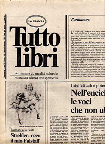 Tuttolibri n. 248 del Dicembre 1980 Strehler, Handke, Veraldi