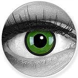 Lenti a contatto colorate annuali lenti a contatto Meralens 1 nero verde Crazy Fun Black Green. Top quality to carnival carnival Halloween con lenti a contatto contenitore senza forza