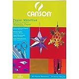 Canson Aluminium Papier de bricolage 5 feuilles A4 21 x 29,7 cm Assorties