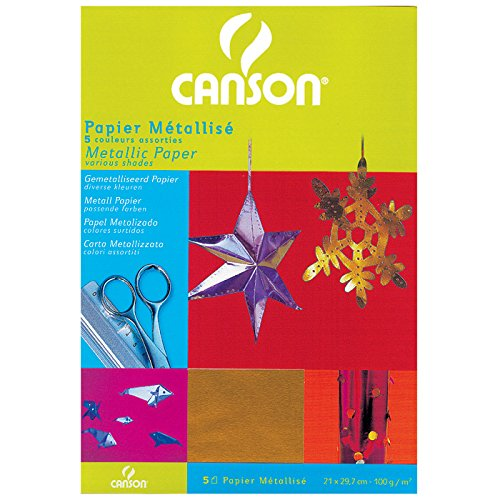 Canson 200992701 Hobby - Metall Papier, A4, sortiert