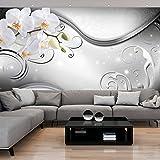 murando - Fototapete 350x256 cm - Vlies Tapete - Moderne Wanddeko - Design Tapete - Wandtapete - Wand Dekoration - Blumen Orchidee Abstrakt b-A-0162-a-c