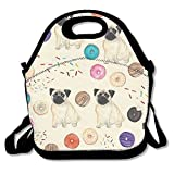 Clip Art â?? Dogs And Donuts Lunch Tote Bag