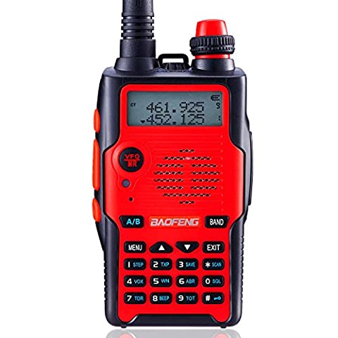 Baofeng UV-5R 5th Generation 136-174/400-520mHZ Two Way Radio Professional FM Transceiver(Red)