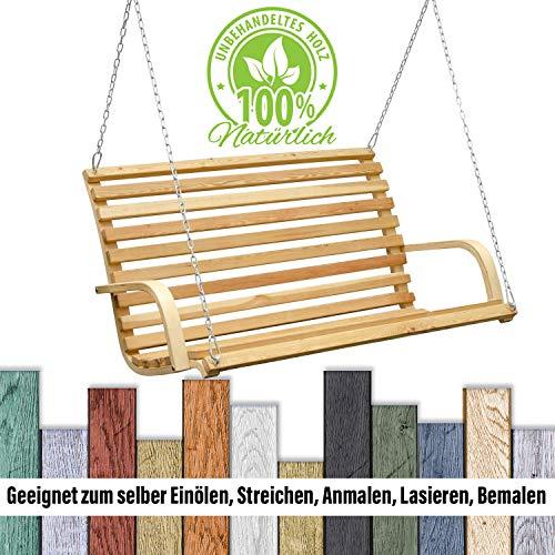 Hollywoodschaukel Bank | Holzbank Lärchenholz - 5