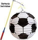 alles-meine.de GmbH 2 tlg. Set: Laterne / Lampion + LED Laternenstab -  Großer Fußball - Rund  -..