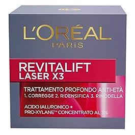 L'Oréal Paris Crema Viso Giorno Revitalift Laser x 3, Azione AntiRughe Anti-Età, 50ml