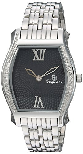 Burgmeister Women's Quartz Watch with Black Dial Analogue Display and Silver Stainless Steel Bracelet BM806-121