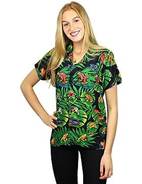 Original King Kameha | Funky Camisa Hawaiana Mujeres | XS-6XL | Manga Corta Bolsillo Delantero| impresión De Hawaii...