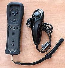 Wii Remote Plus + Wii Nunchuk Controller Set in schwarz / OEM