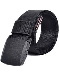 VEASTI 100% Nylon verstellbaren Gürtel mit Doppel-Plastikwoelbungen Belt Militaeroptik 4.0CM Breite 130CM Länge