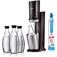 SodaStream Crystal 2.0Promo Pack Action Pack includes 3Water Carbonator Decanters Titanium