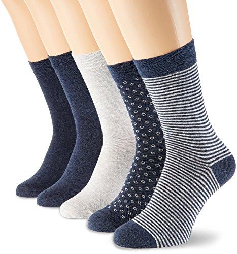 Schiesser Damen Damensocken (5PACK) Socken, Mehrfarbig (Sortiert 1 901), 35/38 (Herstellergröße: 400) (5erPack)