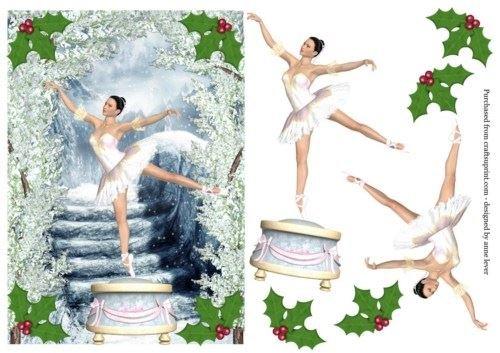 Noël Boîte à musique Ballerine Par Anne levier