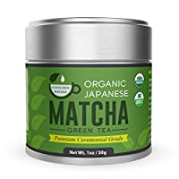 Organic Matcha Green Tea Powder - Premium Ceremonial Grade - Japanese 30g [1.06oz] by Kyoto Dew Matcha