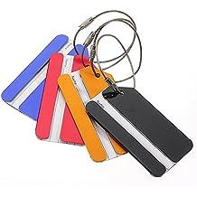 TOOGOO (R) 5 piezas de metal de vacaciones Viajes de equipaje Equipaje Maleta ID Tag Hebilla Direccion Titular Label - color al azar