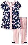 Little Me Girls' Dress and Legging Set, Floral, 12 Months
