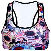 YACUN Mujeres Fitness Bra Chaleco de Yoga ropa deportiva sujetador tops