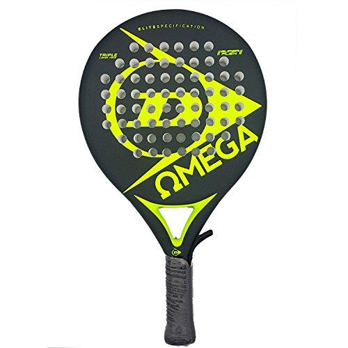 Dunlop OMEGA - Pala de pádel 38mm, 2017, nivel iniciación, color amari