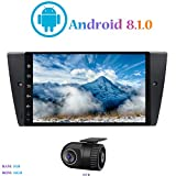 Android 8.1.0 Autoradio, Hi-azul Car Radio In-Dash 9 Zoll Car Stereo GPS Navigation Moniciver Navi 4-Core Car Audio für BMW 3 Series E90/ E91/ E92/ E93 (mit DVR)