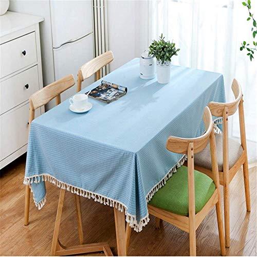 SONGHJ Gitter Quaste Leinen Tischdecke rechteckigen quadratischen Tisch Decken Haushalt Küche Dekoration frische Künste D 60x60cm