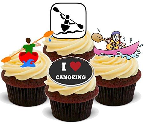 Kanu Kanusport Mischung - 12 essbare Standup Kuchen-Deko, Kuchendekorationen, essbar, Premium, 2 x A5, für 12 Bilder, nicht vorgeschnitten