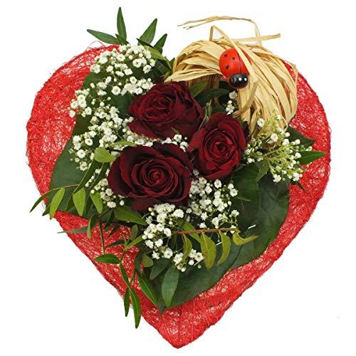 VERSANDKOSTENFREI Blumenstrauß kleines Herz Muttertag + kostenloser Geschenkkarte Blumenversand - Herz-manschette