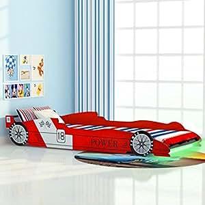 Kinderbett Juniorbett Autobett Rennbett Spielbett Kindermöbel Mädchenbett 90x200