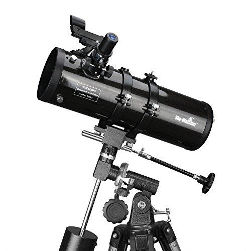 Skywatcher Skyhawk-1145P Newton Teleskop (114mm (4,5 Zoll), f/500) mit parabolischem Spiegel silber (76 Serie Halterung)