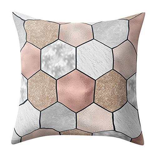 koperras Square Cushion Cover,45cm x 45cm (18in x 18in),Geometric Marble Texture Throw Pillow Case Cushion Cover Sofa Home Decor Zebra Design Cover Case