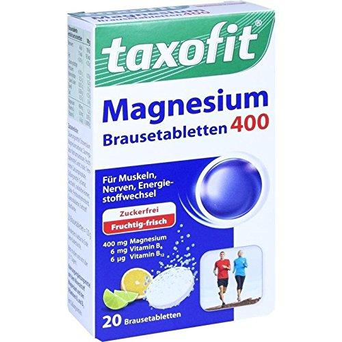 TAXOFIT Magnesium 400+B6+B12 Brausetabletten 20 St