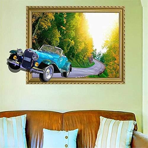 Shang1 WandaufkleberAufkleber 3D Wandtattoos Wohnzimmer Sofa Wanddekorationen Auto Oldtimer Bilderrahmen