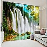 Wapel Wasserfall 3D Foto Drucken Vorhang Für Büro Schlafzimmer Wohnzimmer Vorhänge Landschaft Sonnenschirm Fenster Vorhang 260X320CM