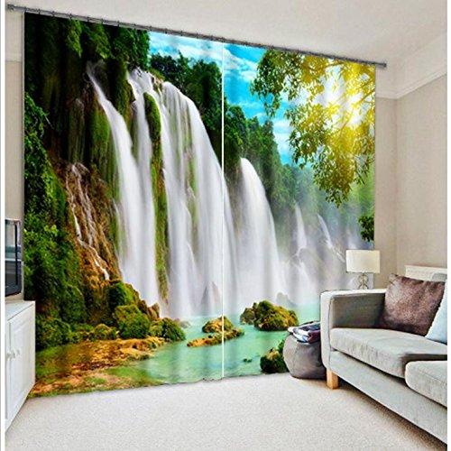 Wapel Wasserfall 3D Foto Drucken Vorhang Für Büro Schlafzimmer Wohnzimmer Vorhänge Landschaft...