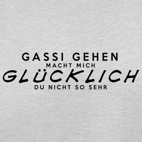 Gassi gehen macht mich glücklich - Herren T-Shirt - 13 Farben Hellgrau