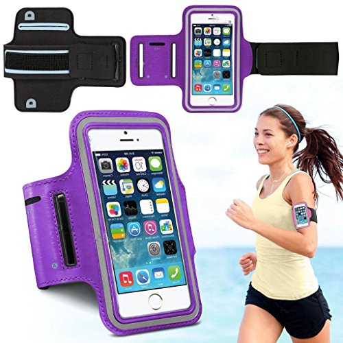Styish PURPLE Sports Running Jogging Gym Armband Arm Band Case Cover Holder for Galaxy s3/s4/s5