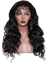 Wildlead Mode Femmes Vierge brésilienne 24 pouces Cheveux humains Cheveux ondulés à la dentelle Perruque à lacets Glueless Lace Wig Hair Bundle Accessories