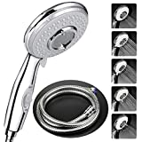 Shower Head with Hose(1.75m) Universal,High Pressure Self Cleaning Never Clog with 5 Mode