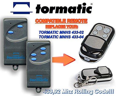 2compatible mando a distancia 433,92mhz rolling code keyfob transmisor de reemplazo TORMATIC MCHS43