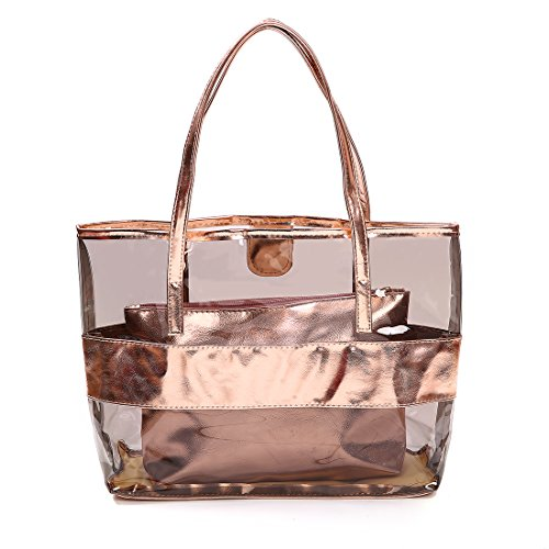 FANCY LOVE, Damen Tote-Tasche beige Rose Gold (Rose Gold Tasche)