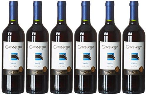 Gato Negro Merlot Vin Rouge du Chili 0,75 L - Lot de 6