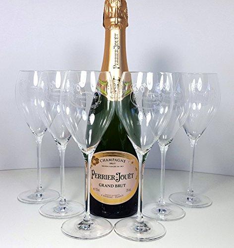 Pierre Jouet Set - Pierre Jouet Grand Brut Champagne 75cl (12% Vol) + 6x Champagne Gläser