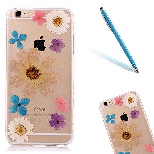"""iPhone 6s Schutzhülle, iPhone 6 Soft TPU Handytasche, CLTPY Modisch Durchsichtige Rückschale im Getrocknete Blumenart, [Stoßdämpfung] & [Kratzfeste] Full Body Case für 4.7"""" Apple iPhone 6/6s + 1 Stylu Floral 10"""