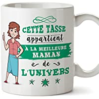 Mère Tasses Originales de café et Petit-déjeuner à Donner Maman -Cette Tasse Appartient à La Meilleure Mère de l'univers - Mug Céramique 350 ML