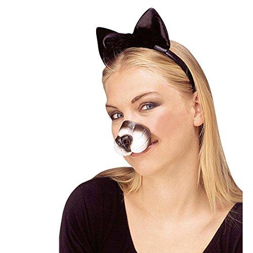 NET TOYS Katzennase Katzenschnauze Tiernase Kitty Katzen Nase Kätzchen Schnauze Tierkostüm Zubehör Kostüm - Katze Nase Kostüm