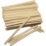 SelfTek 100Pcs Wooden Wax Applicator Spatulas Sticks Hair Removal Stick By SelfTek