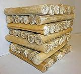 """Rawhide Dog Chews Cigar Rolls 5"""" & 10"""" x 15mm Thick Best Quality Rawhide (10"""" x 15mm Rawhide Cigar Roll, Pack 25)"""