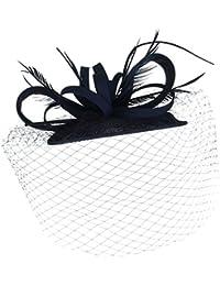 EOZY Damen Mini Hut Fascinator Hut für Kostüm Karneval Fasching Party