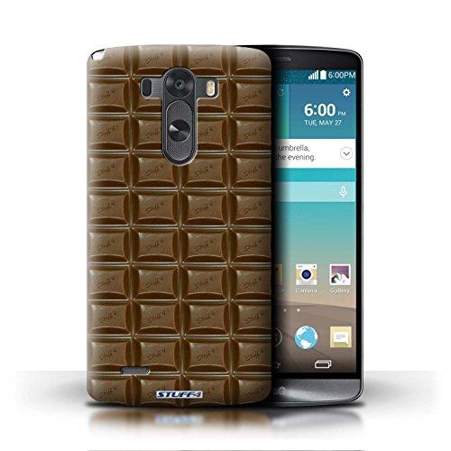 Kobalt® Imprimé Etui / Coque pour LG G3/D850/D855 / Doigts/Sticks conception / Série Chocolat Blocs Dairy Milk/Dalle