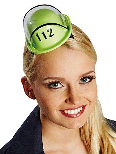 Cerchietto con mini cappello da pompiere verde per donna