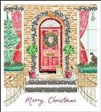 Confezione da 5 biglietti di Natale religiosi di Woodmansterne - Caldo benvenuto - 5 biglietti con 1 design - splendida finitura in lamina d'oro - Venduti a sostegno di Marie Curie (WDM-438127)